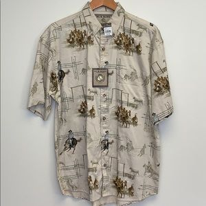 3/$30 Bit and bridal outfitters cowboy shirt